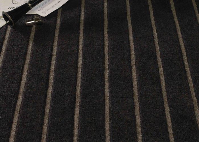 Velvet Stripe Charcoal and Pewter 41